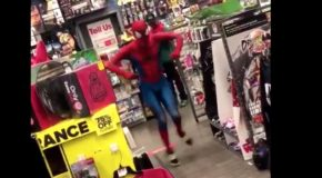 This Spider-Man dancing to Take On Me is perfect