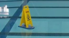 Image tagged in memes,funny memes,smartass,dumb,swimming pool,funny signs