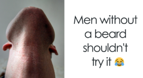 10+ Hilariously Disturbing Photos Of Bearded Men Looking Straight Up (Add Yours)