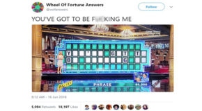This Wheel of Fortune Parody Accounts Attempts to Solve the Puzzle are Amazing