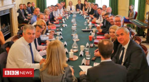 PM's new cabinet meets amid Brexit turmoil