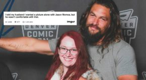 Jason Momoa poses for glorious photo with couple, goes viral