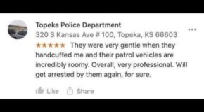 Image tagged in visit beautiful,friendly topeka,neighborly,funny,police hospitality